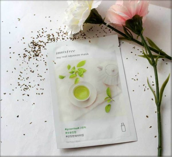 Mặt Nạ Innisfree My Real Squeeze Mask Green Tea 20ml